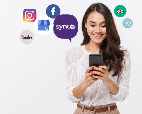 Syncme - profilu reģistrēšanas pakalpojums uzņēmumiem