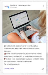 Google My Business posti